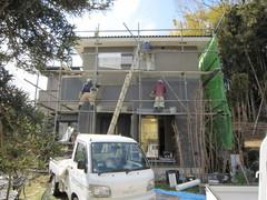 横浜市O邸、木工事完了