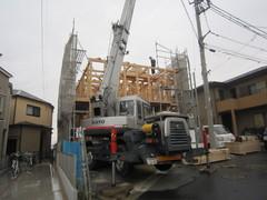 横浜市K邸、上棟