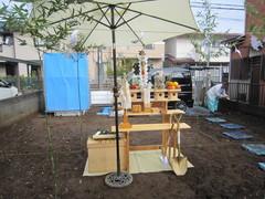 横浜市I邸、地鎮祭
