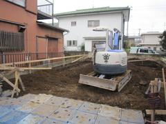 横浜市I邸、基礎工事着手