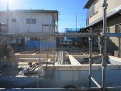 横浜市I邸、足場工事
