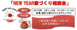 2015年1月1~4日:NewYear家づくり相談会