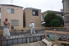 横須賀市IH邸、基礎工事
