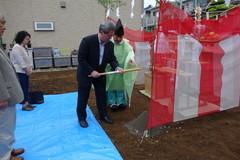 横浜市TG邸は、基礎工事中です