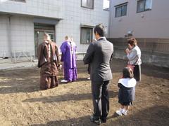 横浜市YK邸、地鎮祭そして地盤改良
