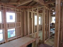 横浜市TG邸、木工事進んでます。