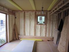 横浜市TG邸新築工事は、木工事中です。